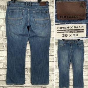 Buffalo Driven-X Basic Straight 36 x 32 Mens Jeans